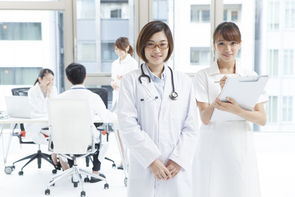 Smile of nurses and doctors