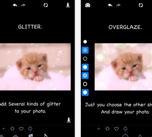 Glitter & Blur Photo Editor